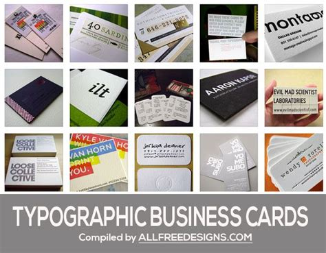 inspiring typographic business cards typographic