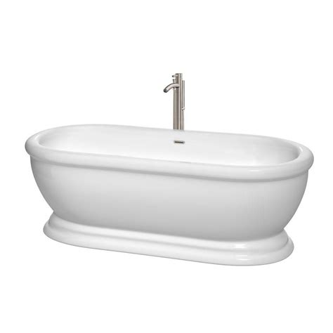tub filler freestanding wyndham collection 5 6 freestanding bathtub with