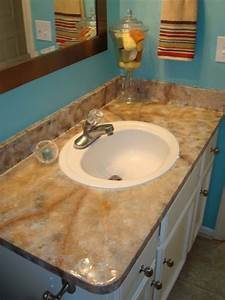 painting a laminate counter top thriftyfun With painting laminate bathroom countertops
