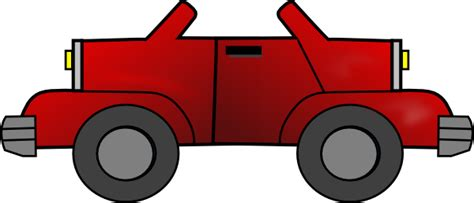 red jeep clipart two way red jeep clip art at clker com vector clip art