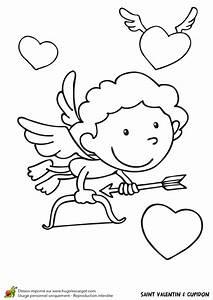 Dessin Saint Valentin : dessin colorier saint valentin cupidon ~ Melissatoandfro.com Idées de Décoration