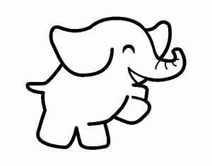 Dibujo de Elefante bailarín para Colorear Dibujos net