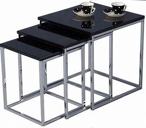 charisma nest of tables black With black nesting tables living room furniture