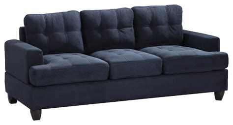 blue tufted sectional sofa tufted sofa navy blue suede traditional sofas by
