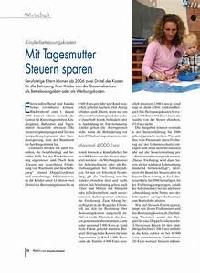 Tagesmutter Steuern Berechnen : kinderbetreuungskosten mit tagesmutter steuern sparen ~ Themetempest.com Abrechnung