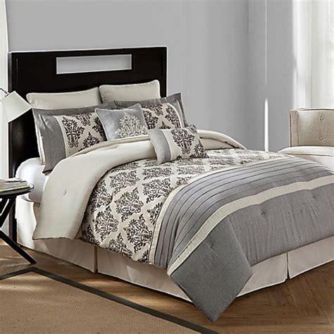 textured comforter set bridge warwick textured cotton linen 8 comforter set in bed bath beyond