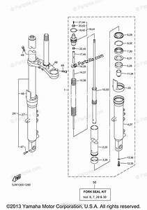 Yamaha Motorcycle 2005 Oem Parts Diagram For Front Fork