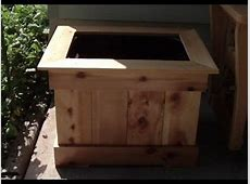 EASY Cedar Picket Planter Boxes YouTube