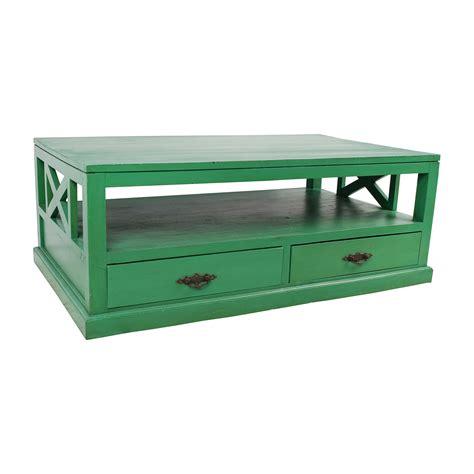 53% Off  Nadeau Nadeau Handmade Green Coffee Table Tables