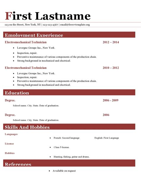 Colorful Resume Template Free by Free Resume Templates Colorful Differant