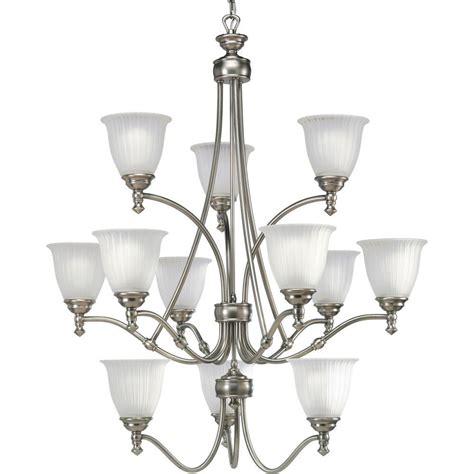 antique nickel chandelier progress lighting renovations collection 12 light antique