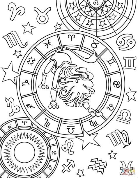 constellation of leo worksheet leo zodiac sign coloring page free printable coloring