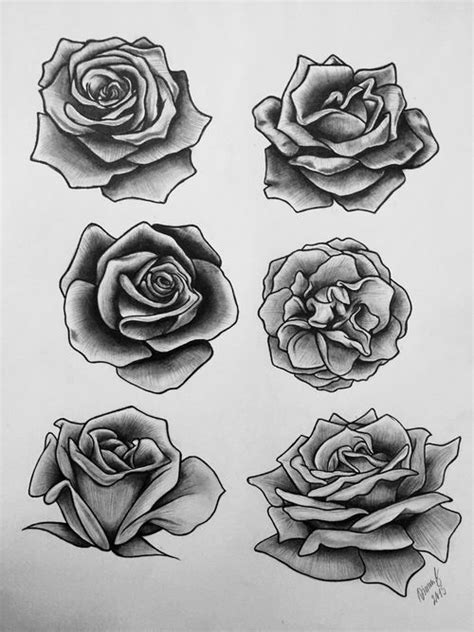 39 best Rose Drawing Stencil Tattoo Designs images on Pinterest | Rose tattoos, Tattoo roses and