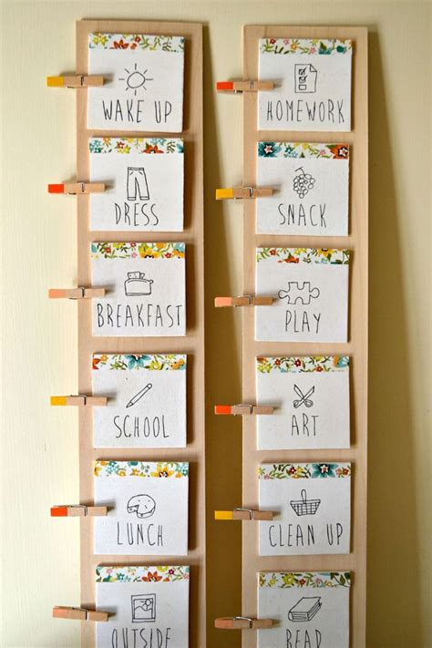 diy daily routine chart  kids daily routine chart