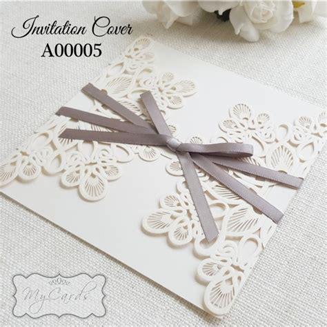doily diecut wedding invitation cover