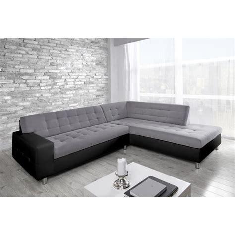 revetement canapé d angle java canapé d 39 angle droit simili et tissu 6 places achat