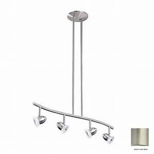 Kendal lighting light standard satin nickel glass pendant linear track kit at