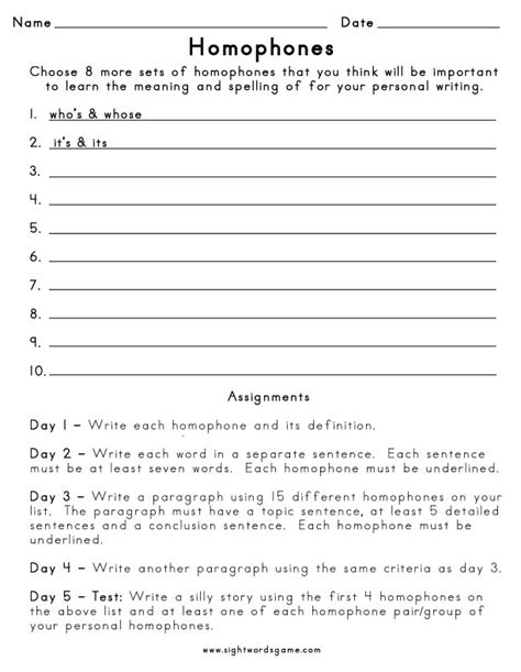 homophone spelling words worksheet 2 homophones