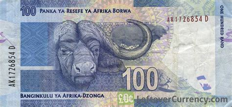 currency converter to sa rand 100 south rand banknote nelson mandela exchange yours today