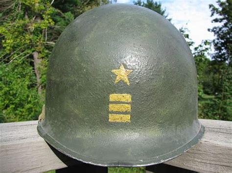 painted   navy helmet commander rank