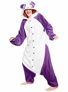 Warmes Halloween Kostüm : cozysuit lila panda kigurumi kost m pandab rkost m onesie ~ Lizthompson.info Haus und Dekorationen