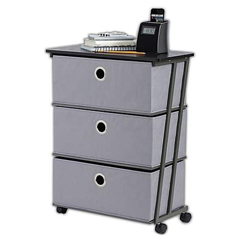 3 drawer storage cart studio 3b 3 drawer wide storage cart in grey bed bath