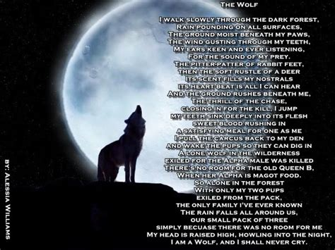 lone wolf poems  quotes quotesgram