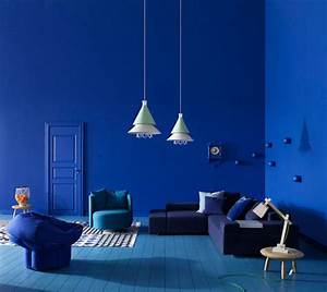 Rich blue and pink interior decorating paint colors