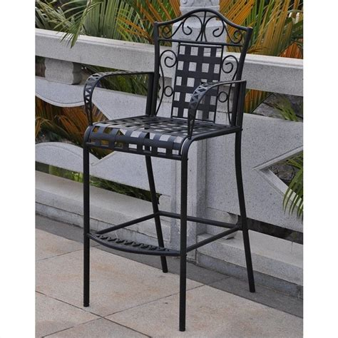 3 iron patio bar height bistro set 3467