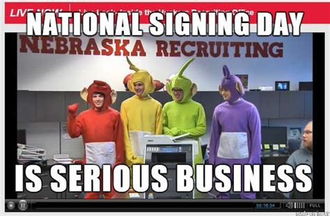Ne Memes - cfb national signing day nebraska cornhuskers meme sports unbiased