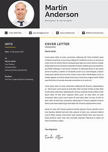 modern cover letter design template word format cover