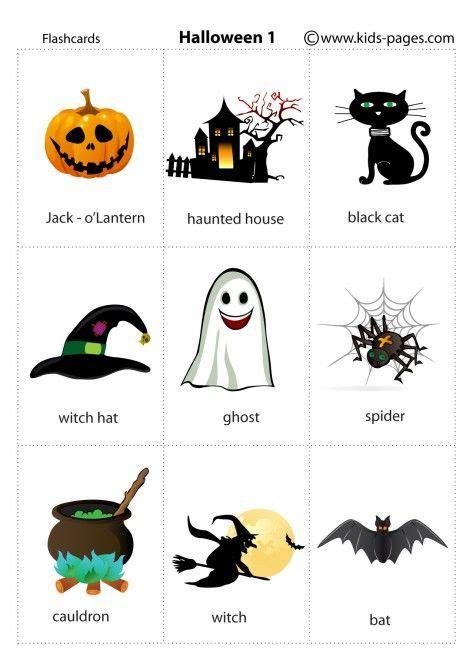 halloween  flashcard halloween vocabulary flashcards