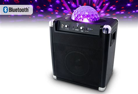 speaker with disco light wireless speaker with light sharper image