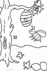 Bee Coloring Bumble Pages Printable Honey Busy Drawing Outline Sheets Clipart Print Bees Colouring Cool2bkids Activities Insect Hive Easy Animal sketch template