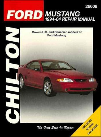 ford mustang   chilton owners service repair
