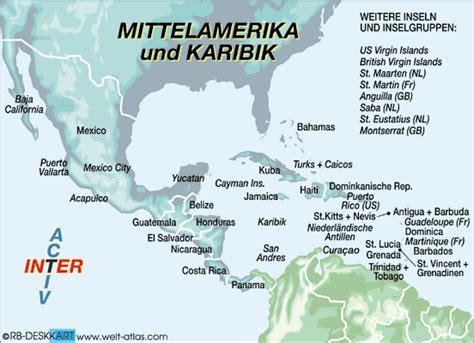 Karte von MITTELAMERIKA / KARIBIK (Region) | Welt-Atlas.de