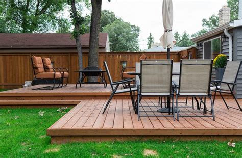 build  floating wood patio deck hunker