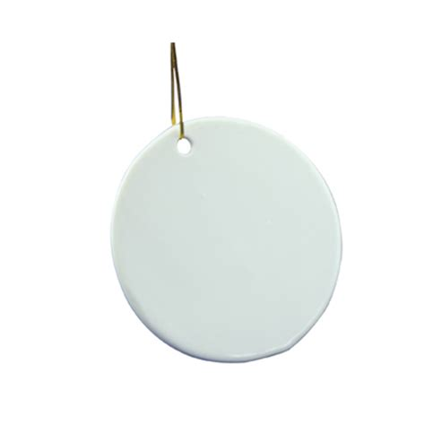 12pcs blank sublimation round ceramic ornaments for