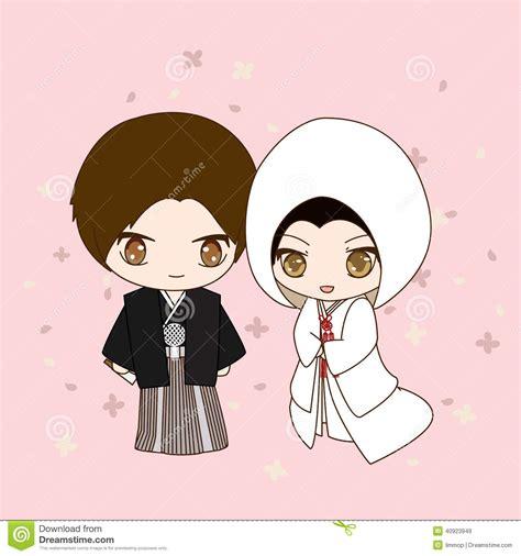 japanese wedding dress stock vector illustration  asian