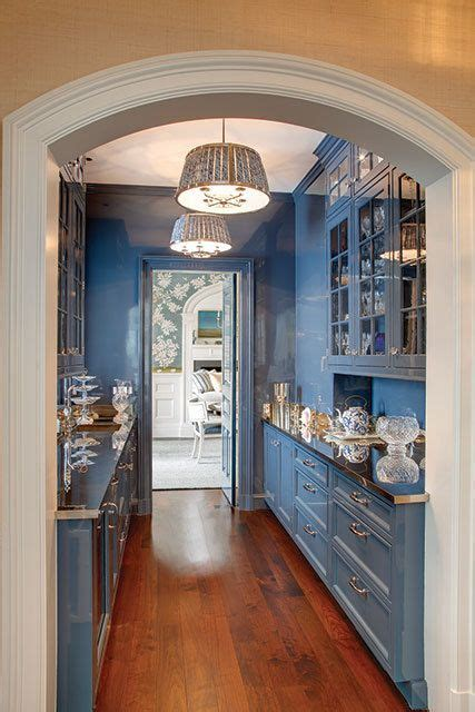 blue butlers pantry kitchen butler pantry breakfast