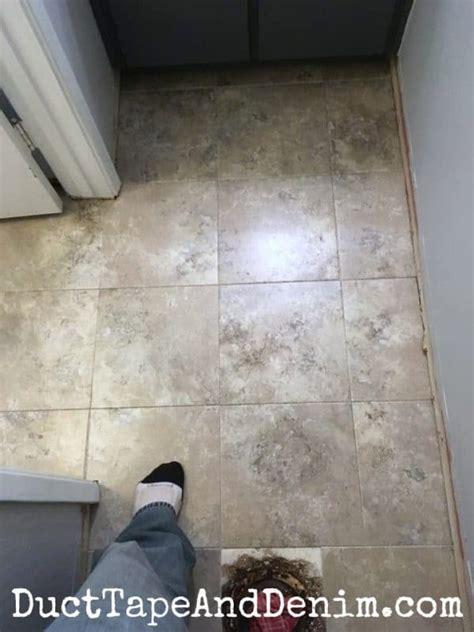 peel  stick tile   powder room floors