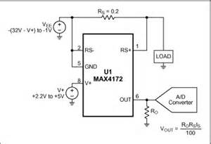 high side positive current sensor monitors negative supply With voltage monitor