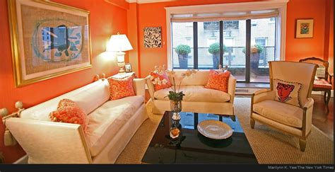 Living Room Decor With Orange Walls by Home Staging New York What Not To Do When Selling Your