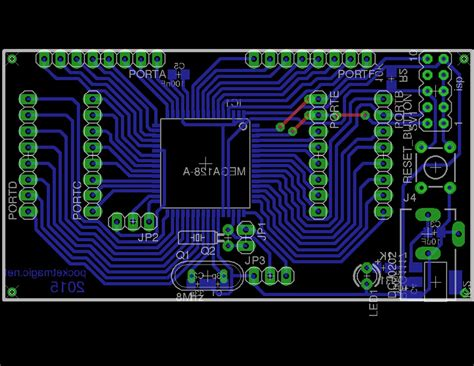 Diy Avr Development Board With Atmega Pocketmagic