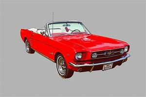 """1965 Red Ford Mustang Convertible"" by KWJphotoart 