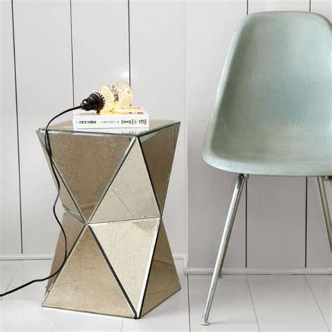 west elm side table west elm faceted mirror side table decoist