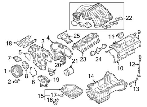 Frontier V6 Engine Diagram by Nissan Frontier Engine Valve Cover 13264ea200 Hyman