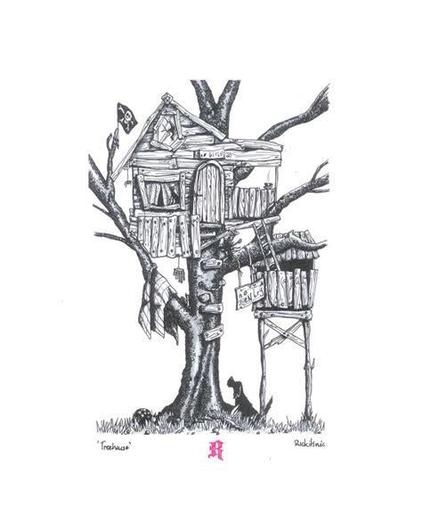 Treehouse Illustration Felt