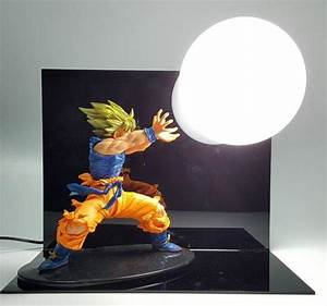 cool unique diy dragon ball z goku vegeta bedside lamps With dragonball z table lamp
