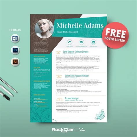 Free Creative Resume by Resume Template Free Cover Letter Cover Letter